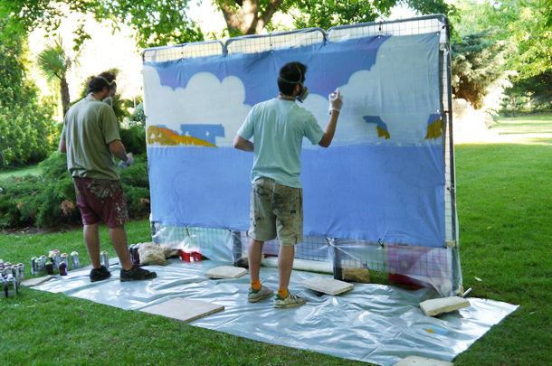 Animation fresque participative